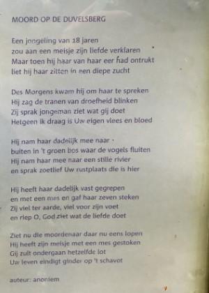 Poëzie, gedicht, anoniem, Berg en Dal