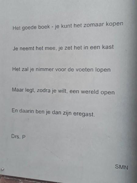 Poëzie, gedicht, Drs. P, Nunspeet