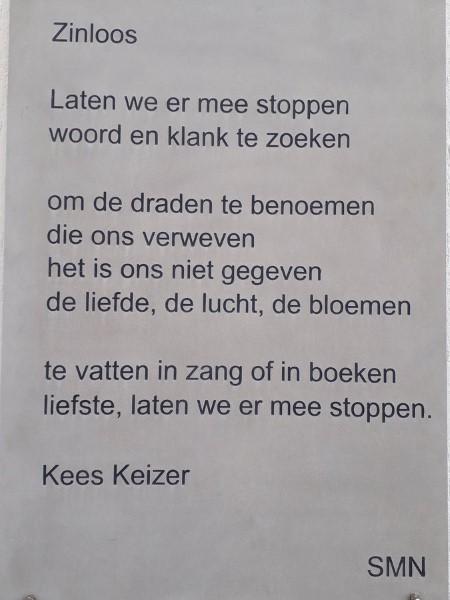 Poëzie, gedicht, Kees Keizer, Nunspeet