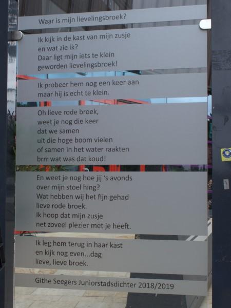 Poëzie, gedicht, Githe Seegers, Enschede, Willem Wilminkplein