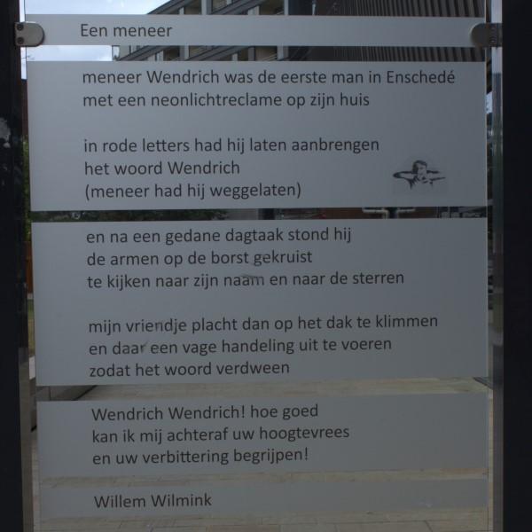 Poëzie, gedicht, Willem Wilmink, Enschede, Willem Wilminkplein