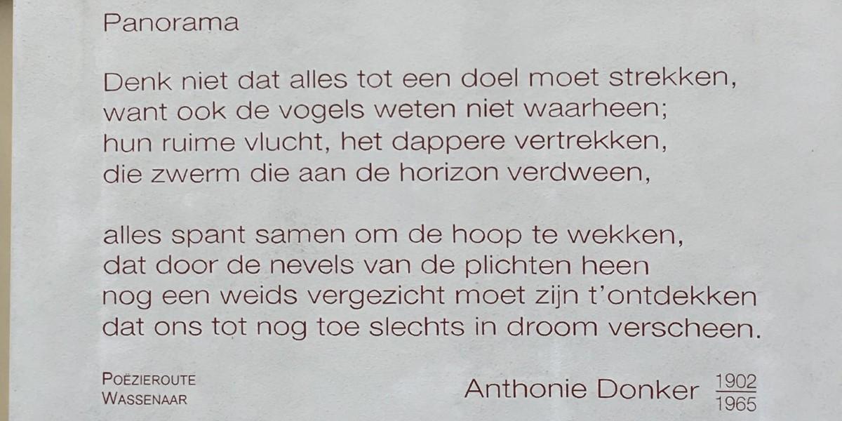 Poëzie, gedicht, Anthonie Donker, Wassenaar