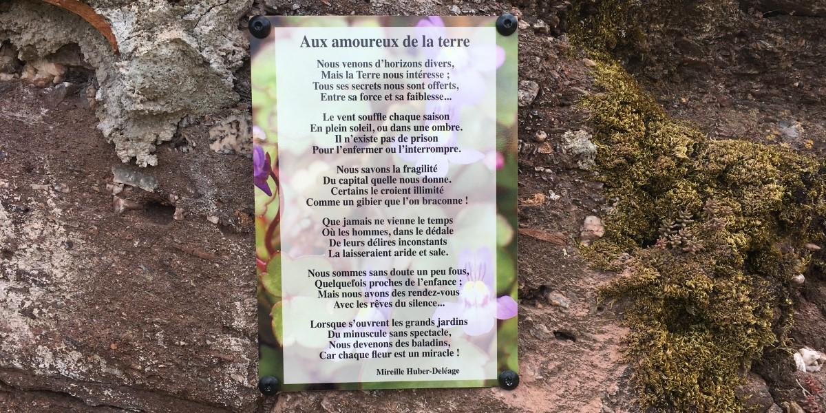 Poëzie, gedicht, Mireille Huber-Deléage, Combret