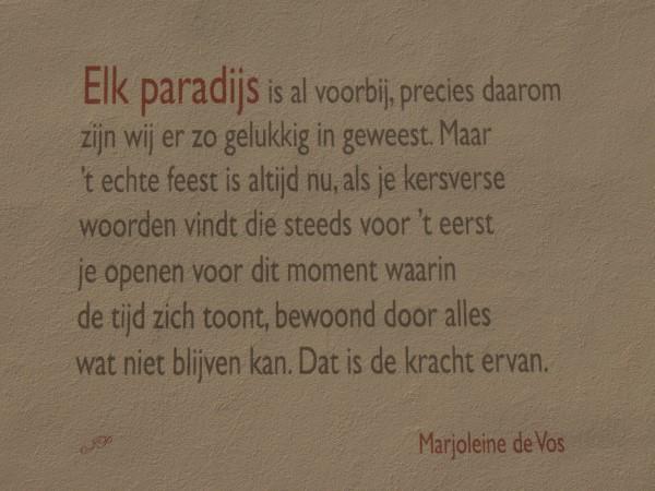 Poëzie, gedicht, Marjoleine de Vos, Naarden
