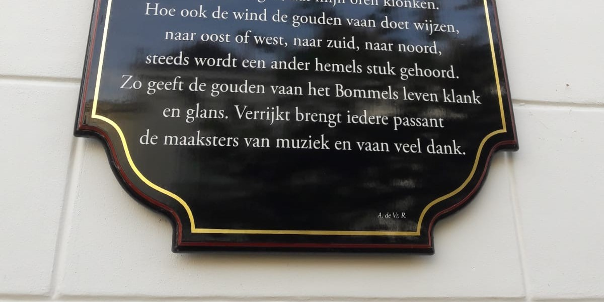 Poëzie, gedicht, Zaltbommel, Arnold de Vries Robbé