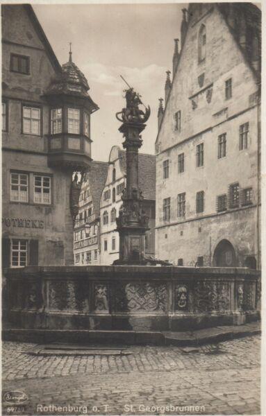Sankt Georgsbrunnen, Rothenburg ob der Tauber