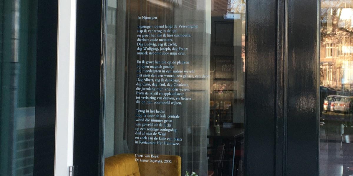 Poëzie, gedicht, Geert van Beek, Nijmegen