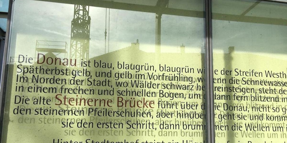 Poëzie, Georg Britting, Regensburg