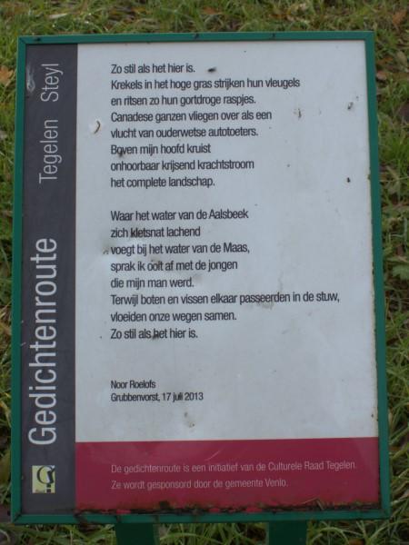 Poëzie, gedicht, Noor Roelofs, Steyl