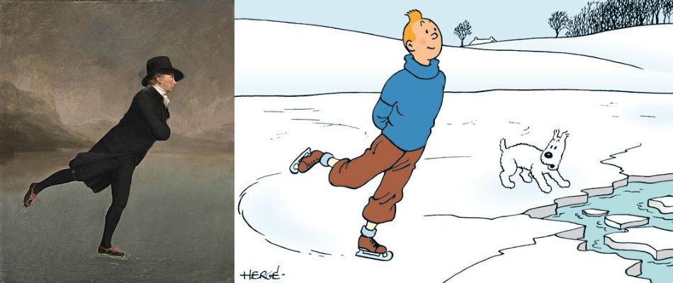Hergé, Kuifje, Henry Raeburn, Iceskating minister