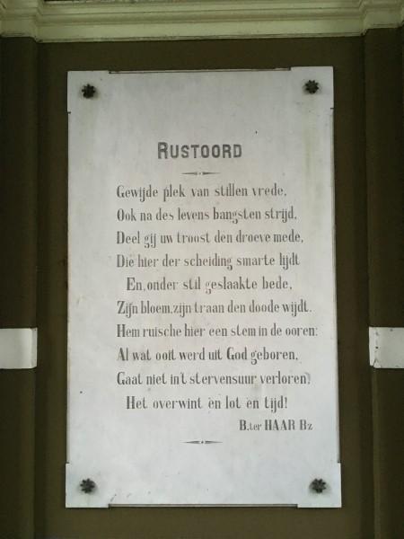 Poëzie, gedicht, Barend ter Haar Bz., Nijmegen