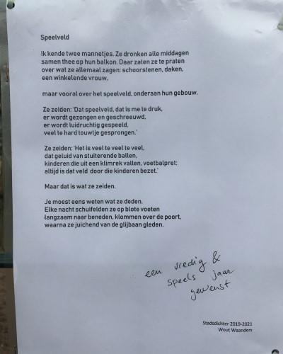 Poëzie, gedicht, Wout Waanders, Nijmegen, stadsdichter