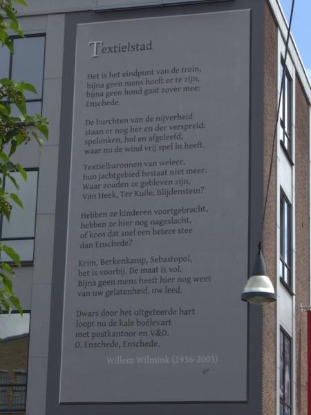 Poëzie, gedicht, Enschede, Willem Wilmink