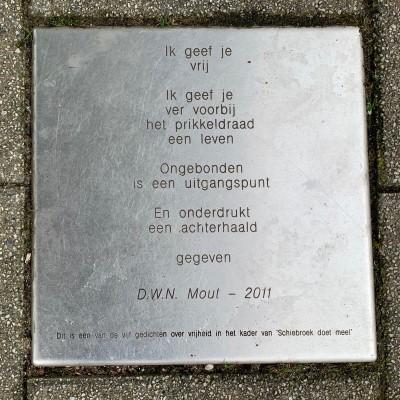 Poëzie, gedicht, D.W.N. Mout, Rotterdam