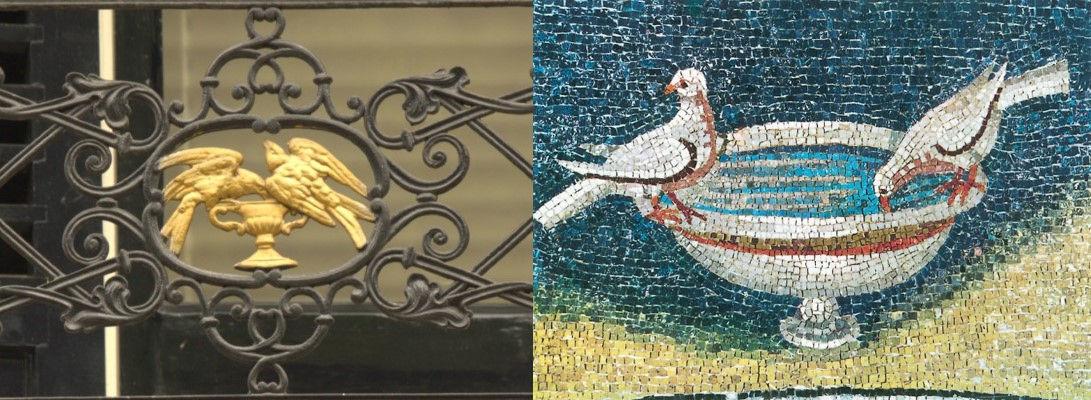 Vogels op kelk, Ubbergen, Ravenna