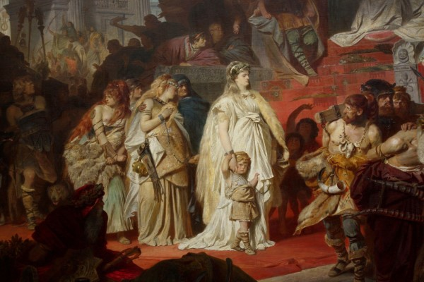 Carl Theodor von Piloty, Thusnelda im Triumphzug des Germanicus