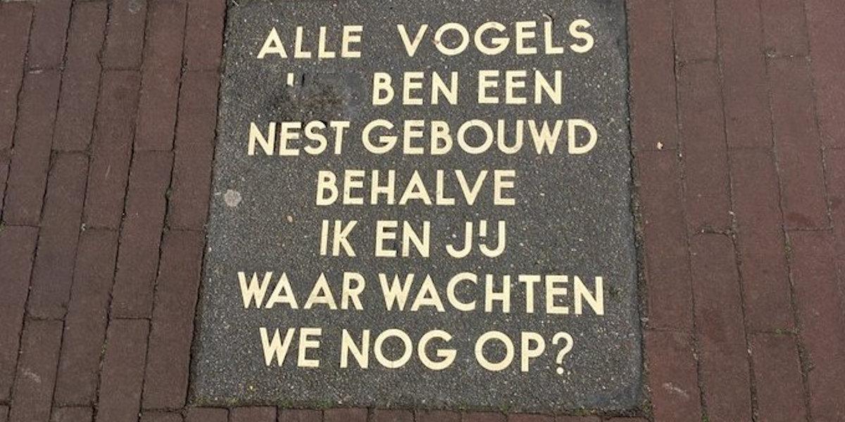 Poëzie, dichtregel, anoniem, Amsterdam
