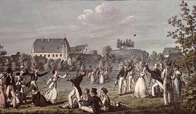 Leopold Kupelwieser, Ballspiel in Atzenbrugg