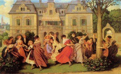 Moritz von Schwind, Gesellschaftsspiel