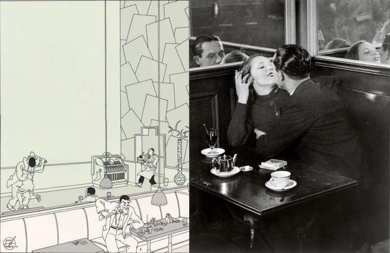 Dwarskijken, spiegel, Joost Swarte, Brassaï