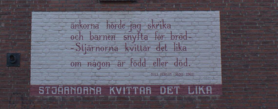 Poëzie, gedicht, Nils ferlin, Leiden