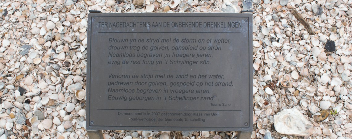 Poëzie, gedicht, West-Terschelling, Teunis Schol
