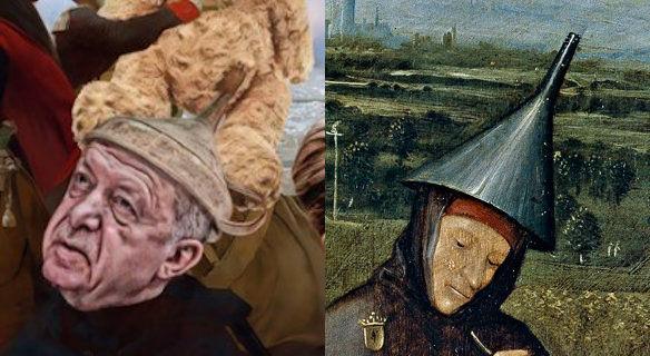 Spotprent, Javier Muñoz, schilderij Hieronymus Bosch