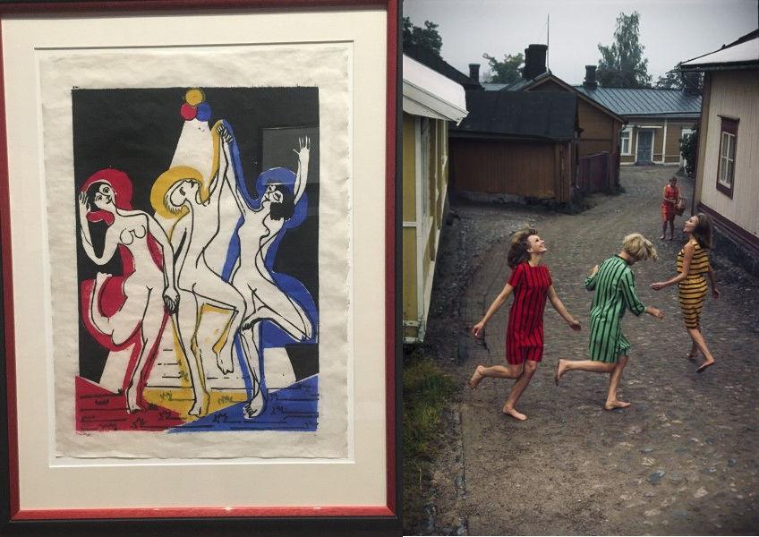 Ernst Ludwig Kirchner, Tony Vaccaro, drie dansende vouwen
