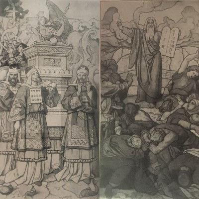Moritz von Schwind, Ark van het Verbond, Mozes en de tafelen der wet