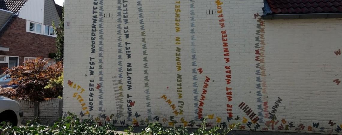 Poëzie, street art, anoniem, Woensel West