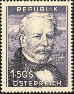 Moritz von Schwind, postzegel