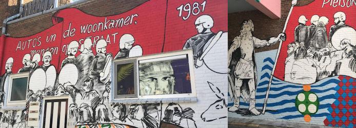 Remco Visser en Naamloozz, Waalpaintings, Nijmegen