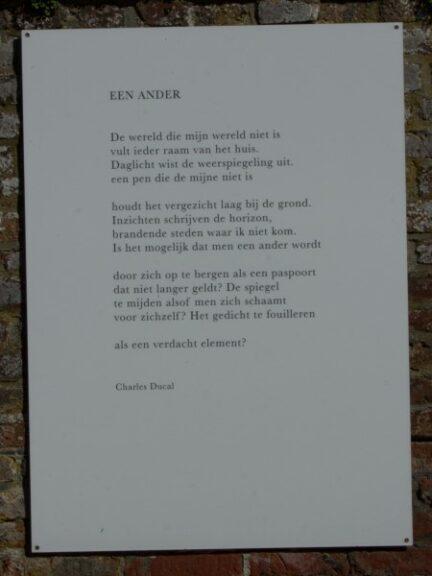 Poëzie, Gedicht, Charles Ducal, Watou
