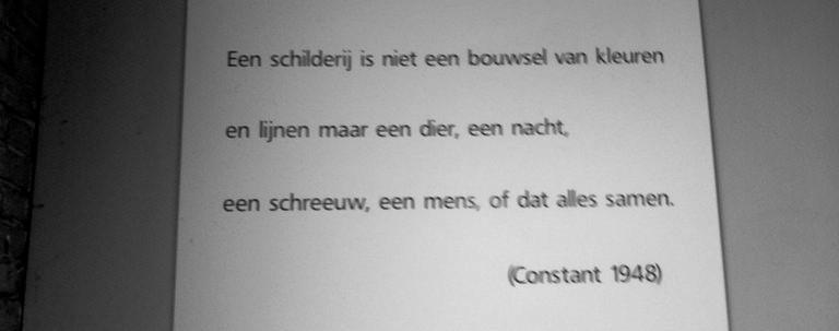 Poëzie, poëtische uitspraak, Constant, Utrecht