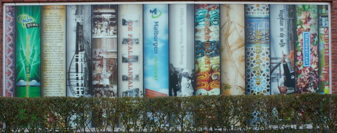Muurmuseum, Arno Arts, Arnhem, boekenplank