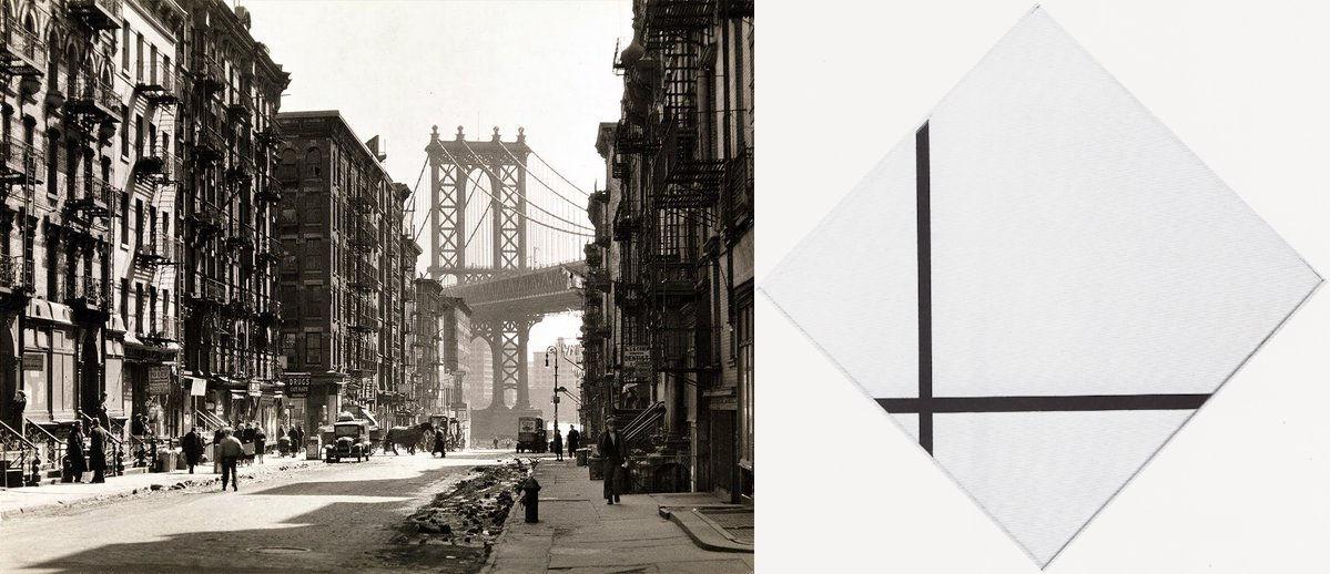 Berenice Abbott, Piet Mondriaan, New York, Dwarskijken