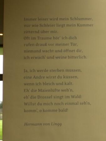 Poëzie, gedicht, Hermann Lingg, Wageningen