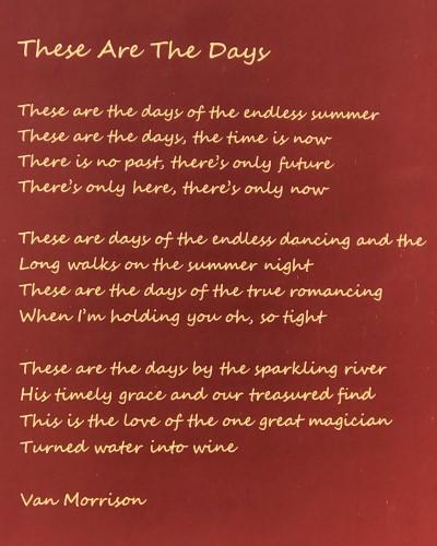 Poëzie, songtekst, Van Morrison, Groenlo