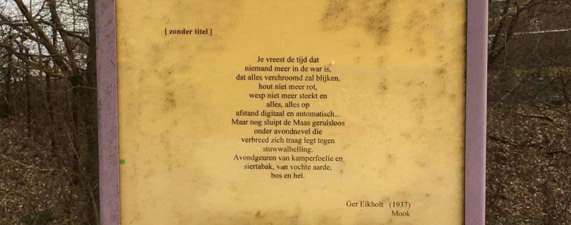 Poëzie, gedicht, Ger Eikholt, Plasmolen