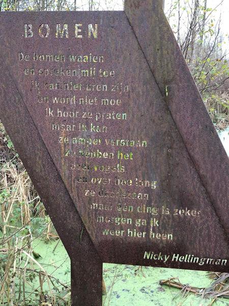 Poëzie, gedicht, Nicky Hellingman, Purmerend