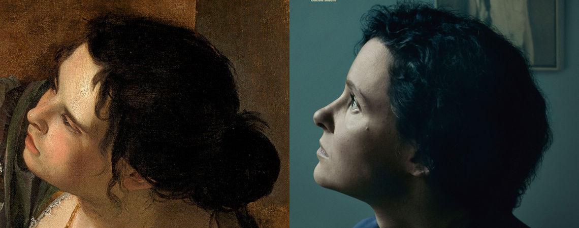 Dwarskijken, zijaanzicht, Artemisia Gentileschi
