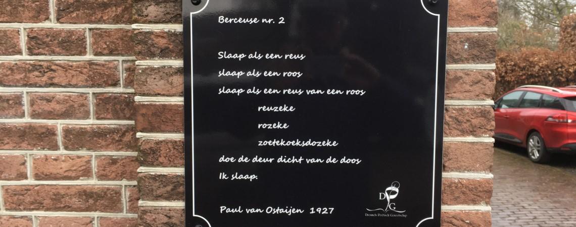 Poëzie, gedicht, Paul van Ostaijen, Dreumel