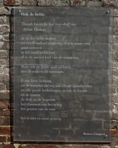 Ook de liefde, gedicht van Remco Campert, gevonden in Watou