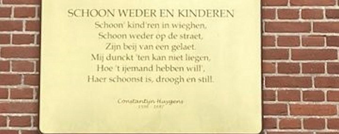 Poëzie, gedicht, straatpoëzie, Constantijn Huygens, Rotterdam
