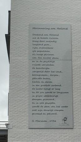Herinnering aan Holland, gedicht van Hendrik Marsman, gevonden in Dreumel