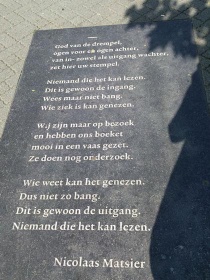 Gedicht van Nicolaas Matsier, gevonden in Leeuwarden