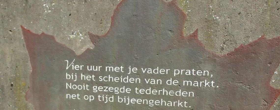 Poézie, straat,poëzie, gedicht, muurgedicht, Bill van der Meulen, Wassenaar