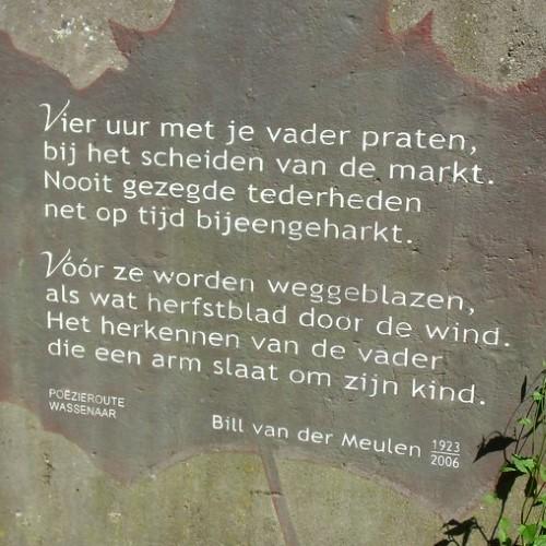 Gedicht van Bill van der Meulen, gevonden in Wassenaar