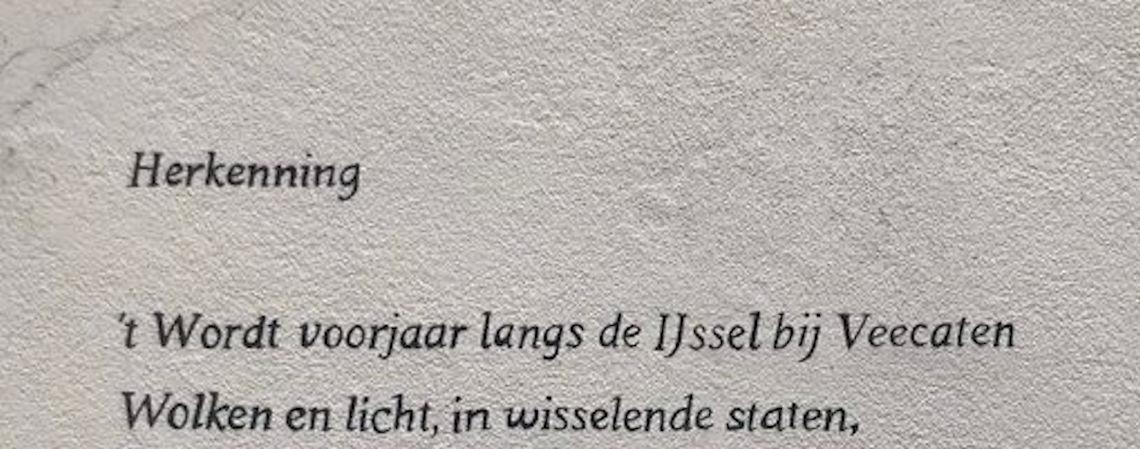 Poëzie, straatpoëzie, gedicht, muurgedicht, Ida Gerhardt, Hattem
