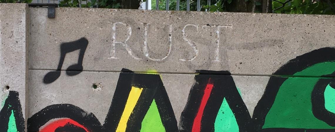 Rust, graffiti in Nijmegen van Pink Pony Express in het kader van hun project Spuiten of Hakken